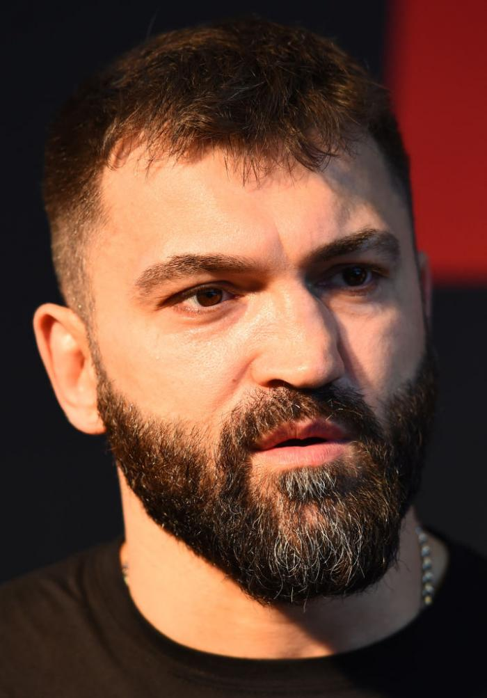 CHICAGO, ILLINOIS - JUNE 07:   Andrei Arlovski of Belarus interacts with media during the UFC 225 Ultimate Media Day at the United Center on June 7, 2018 in Chicago, Illinois. (Photo by Josh Hedges/Zuffa LLC/Zuffa LLC via Getty Images)