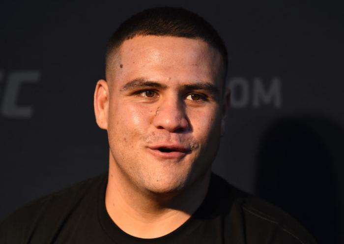 CHICAGO, ILLINOIS - JUNE 07:   Tai Tuivasa of Australia interacts with media during the UFC 225 Ultimate Media Day at the United Center on June 7, 2018 in Chicago, Illinois. (Photo by Josh Hedges/Zuffa LLC/Zuffa LLC via Getty Images)