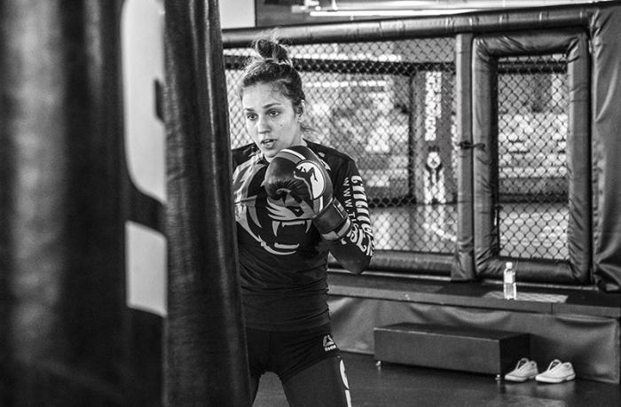Las Vegas 5/27/18 - Antonina Shevchenko at the UFC Performance Institute in las Vegas preparing for Dana White's Tuesday Night Contender Series. (Photo credit Juan Cardenas)