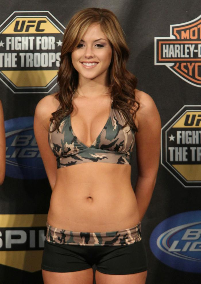 UFC Octagon Girl, Brittney Palmer at UFC Fight for the Troops Weigh-in.