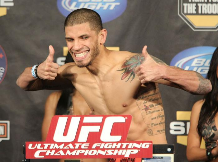 UFC Fight for the Troops Weigh in: Damarques Johnson
