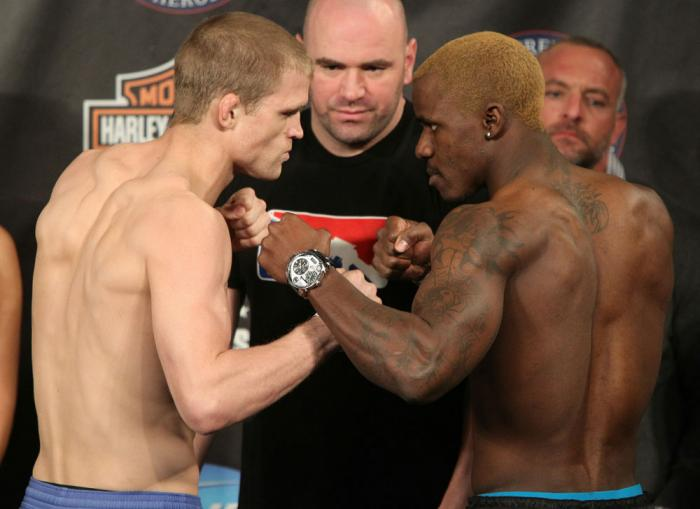 UFC Fight for the Troops Weigh in: Dunham vs. Guillard