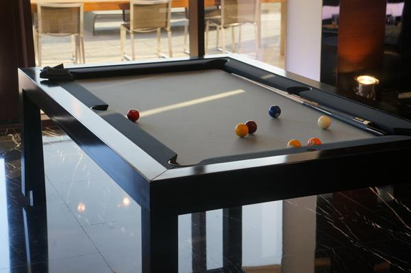 La mesa de billar donde se disputó la oportunidad por salir a conocer Las Vegas