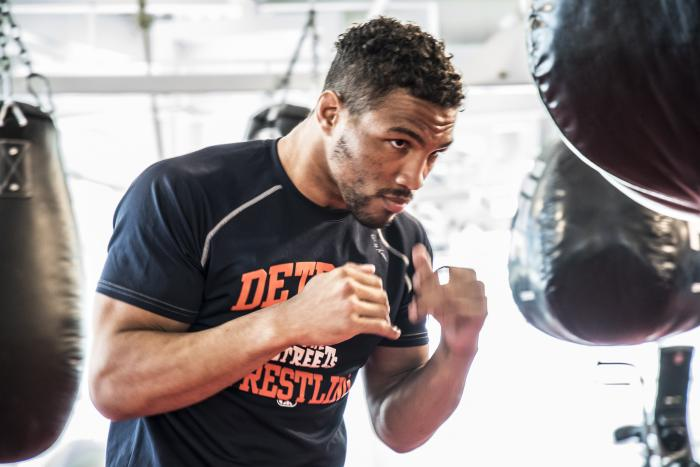 Las Vegas 4/11/18 - UFC fighter Kevin Lee at the UFC Performance Institute in las Vegas. (Photo credit Juan Cardenas)