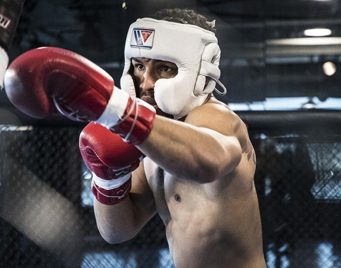 Las Vegas 4/11/18 - UFC fighter Kevin Lee sparring at the UFC Performance Institute in las Vegas. (Photo credit Juan Cardenas)
