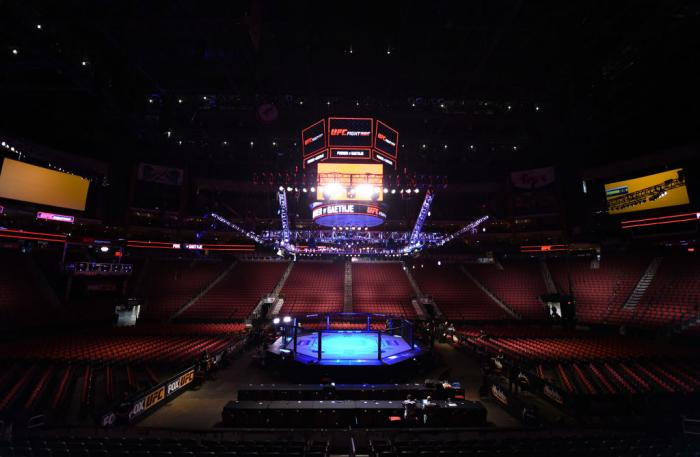 GLENDALE, AZ - APRIL 14:  A general view of the Octagon before the UFC Fight Night event at the Gila Rivera Arena on April 14, 2018 in Glendale, Arizona. (Photo by Josh Hedges/Zuffa LLC/Zuffa LLC via Getty Images)