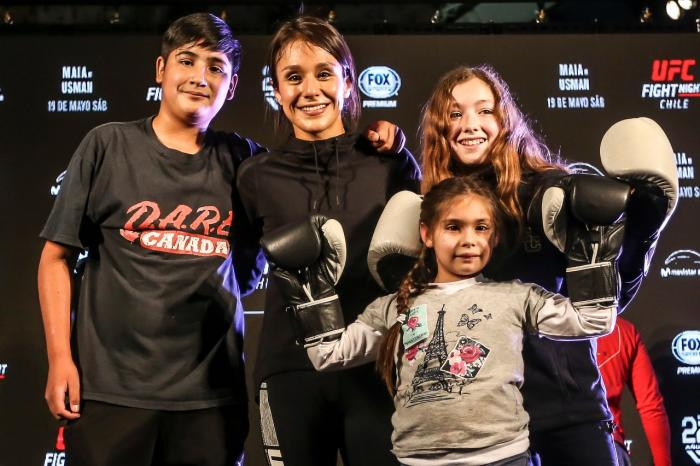 Alexa Grasso at the UFC Chile Open Workouts
