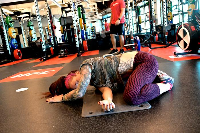 11/14/17 - Las Vegas, UFC Performance Institute - Gina Mazany prepares for UFC Shanghai 2017 (Photo credit Juan Cardenas)
