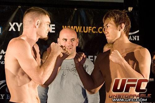 Kalib Starnes Yushin Okami UFC 64 Weigh In