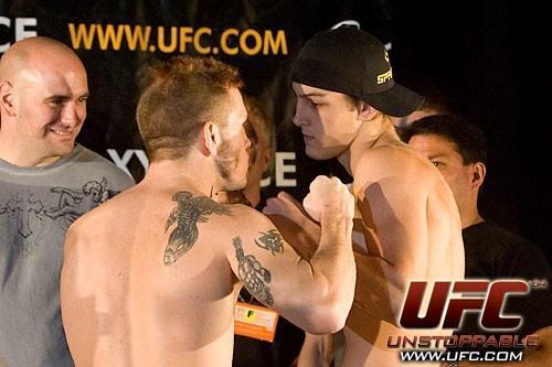 Spencer Fisher Dan Lauzon UFC 64 Weigh In