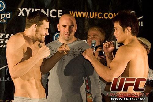 Jon Fitch Kuniyoshi Hironaka UFC 64 Weigh In