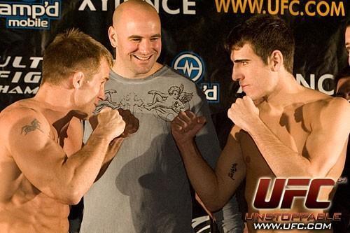 Sean Sherk Kenny Florian UFC 64 Weigh In
