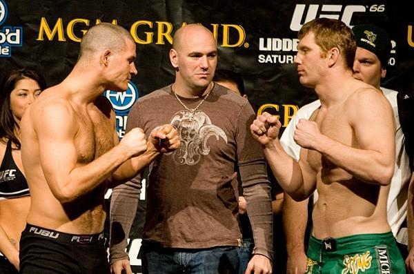 UFC 66 Weigh In Michael Bisping Eric Schafer