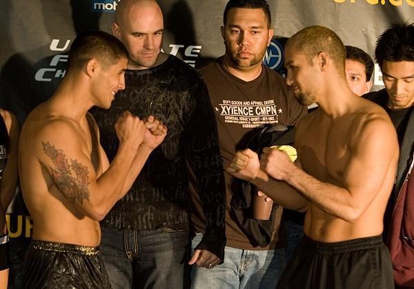 Joe Stevenson Dokonjonosuke Mishima  UFC 65 Weigh In