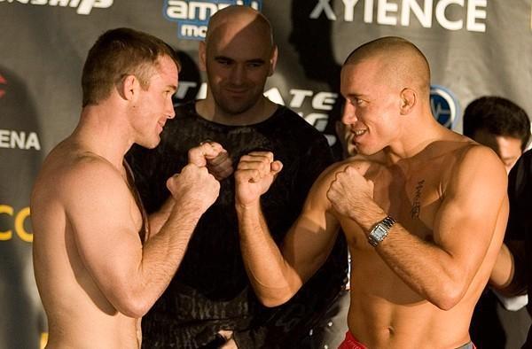 Matt Hughes Georges St Pierre UFC 65 Weigh In
