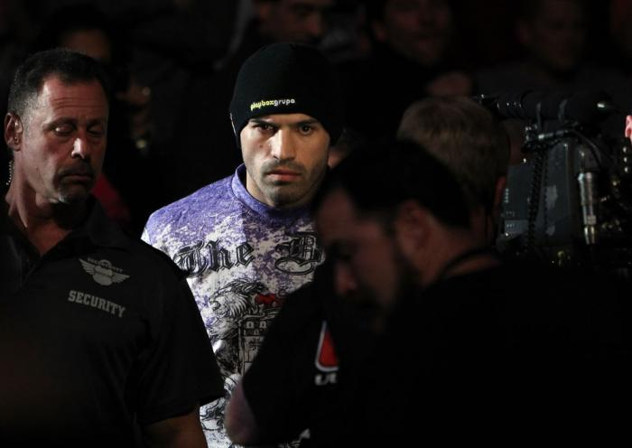 TORONTO, ON - DECEMBER 10:  Igor Pokrajac enters the arena before his bout against Krzysztof Soszynski during the UFC 140 event at Air Canada Centre on December 10, 2011 in Toronto, Ontario, Canada.  (Photo by Josh Hedges/Zuffa LLC/Zuffa LLC via Getty Ima