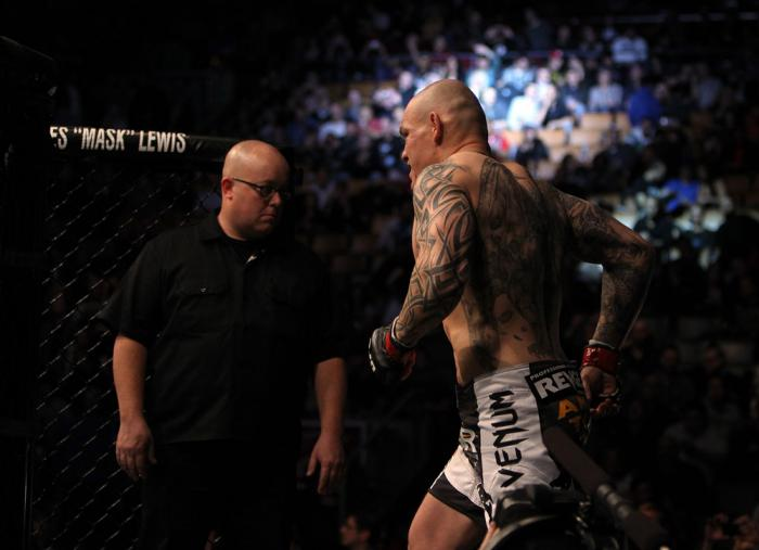 TORONTO, ON - DECEMBER 10:  Krzysztof Soszynski enters the Octagon before his bout against Igor Pokrajac during the UFC 140 event at Air Canada Centre on December 10, 2011 in Toronto, Ontario, Canada.  (Photo by Josh Hedges/Zuffa LLC/Zuffa LLC via Getty I