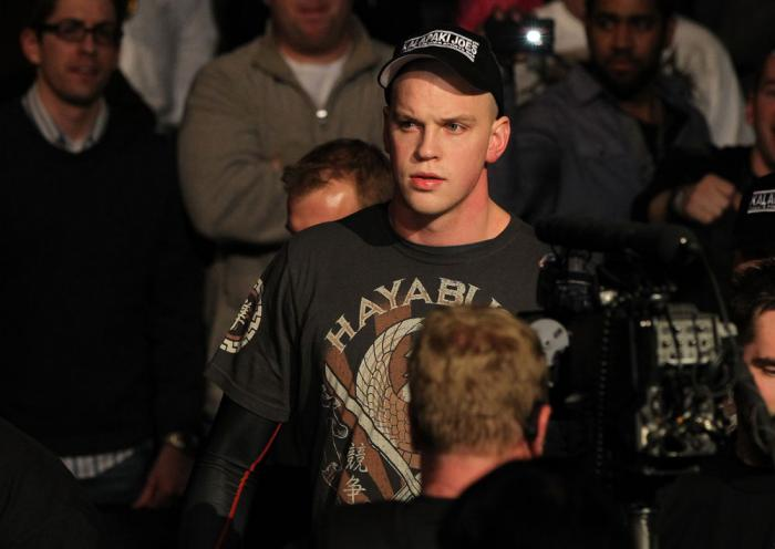 OMAHA, NE - FEBRUARY 15:  Stefan Struve enters the arena before his bout against Dave Herman during the UFC on FUEL TV event at Omaha Civic Auditorium on February 15, 2012 in Omaha, Nebraska.  (Photo by Josh Hedges/Zuffa LLC/Zuffa LLC via Getty Images) **