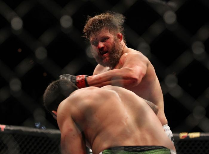LAS VEGAS, NV - FEBRUARY 04:  Roy Nelson (pictured) punches Fabricio Werdum during the UFC 143 event at Mandalay Bay Events Center on February 4, 2012 in Las Vegas, Nevada.  (Photo by Josh Hedges/Zuffa LLC/Zuffa LLC via Getty Images) *** Local Caption ***