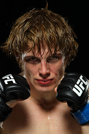 LONDON, ENGLAND - FEBRUARY 16:  Matthew Riddle poses for a portrait after his victory over Che Mills during the UFC on Fuel TV event on February 16, 2013 at Wembley Arena in London, England.  (Photo by Mike Roach/Zuffa LLC/Zuffa LLC via Getty Images)
