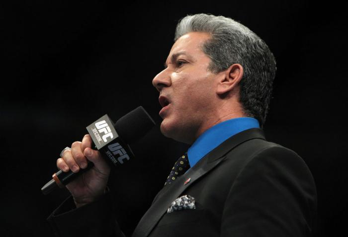TORONTO, ON - DECEMBER 10:  Octagon announcer Bruce Buffer introduces the fighters during the first bout of the evening during the UFC 140 event at Air Canada Centre on December 10, 2011 in Toronto, Ontario, Canada.  (Photo by Josh Hedges/Zuffa LLC/Zuffa