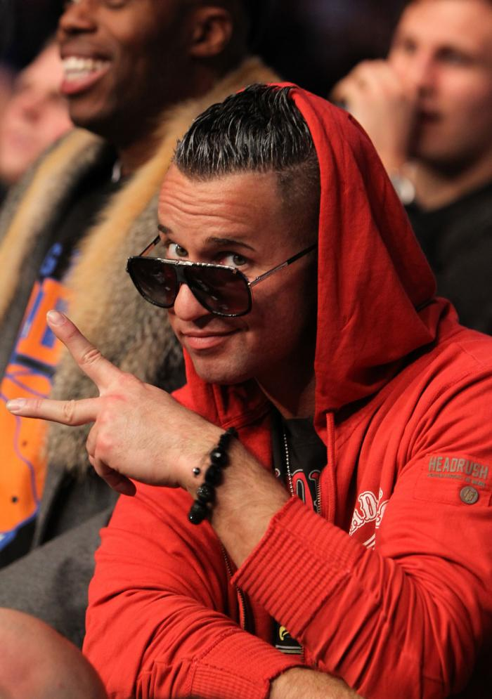 """TORONTO, ON - DECEMBER 10:  Television personality """"The Situation"""" Michael Sorrentino attends the UFC 140 event at Air Canada Centre on December 10, 2011 in Toronto, Ontario, Canada.  (Photo by Josh Hedges/Zuffa LLC/Zuffa LLC via Getty Images)"""