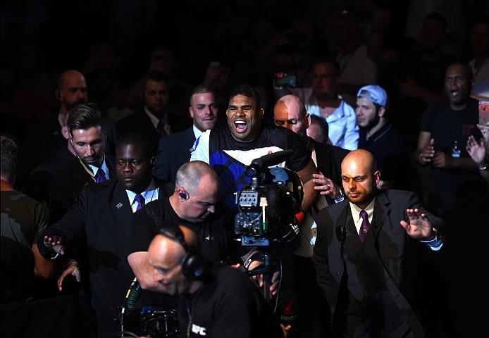 ROTTERDAM, NETHERLANDS - MAY 08:  Alistair Overeem prepares to enter the Octagon before facing Andrei Arlovski  in their heavyweight bout during the UFC Fight Night event at Ahoy Rotterdam on May 8, 2016 in Rotterdam, Netherlands. (Photo by Josh Hedges/Zu