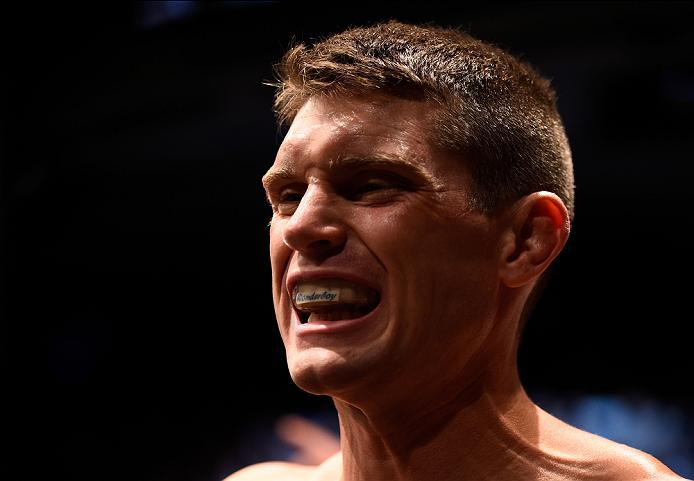 OTTAWA, ON - JUNE 18:   Stephen Thompson of the United States prepares to enter the Octagon before facing Rory MacDonald of Canada in their welterweight bout during the UFC Fight Night event inside the TD Place Arena on June 18, 2016 in Ottawa, Ontario, C