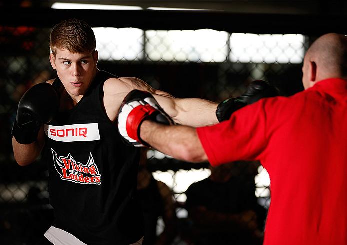 SYDNEY, AUSTRALIA - NOVEMBER 05:  Jake Matthews of Australia holds an open training session for media at the UFC Gym Sydney on November 5, 2014 in Sydney, Australia. (Photo by Josh Hedges/Zuffa LLC/Zuffa LLC via Getty Images)