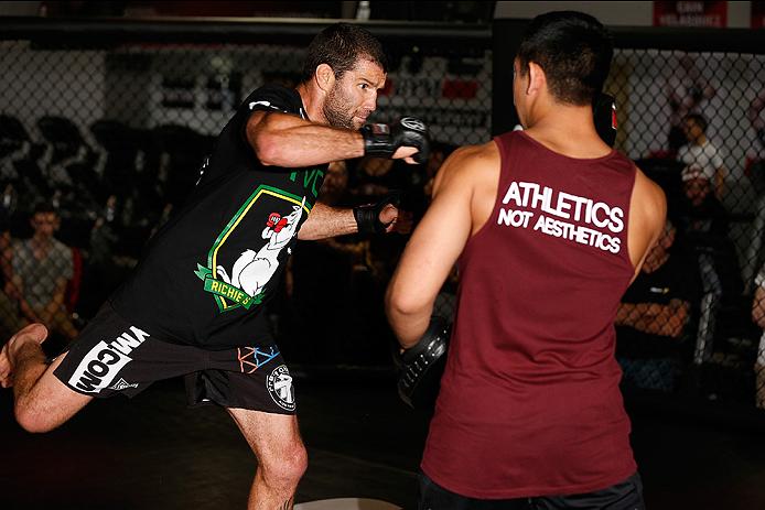 SYDNEY, AUSTRALIA - NOVEMBER 05:  Richie Vaculik of Australia holds an open training session for media at the UFC Gym Sydney on November 5, 2014 in Sydney, Australia. (Photo by Josh Hedges/Zuffa LLC/Zuffa LLC via Getty Images)
