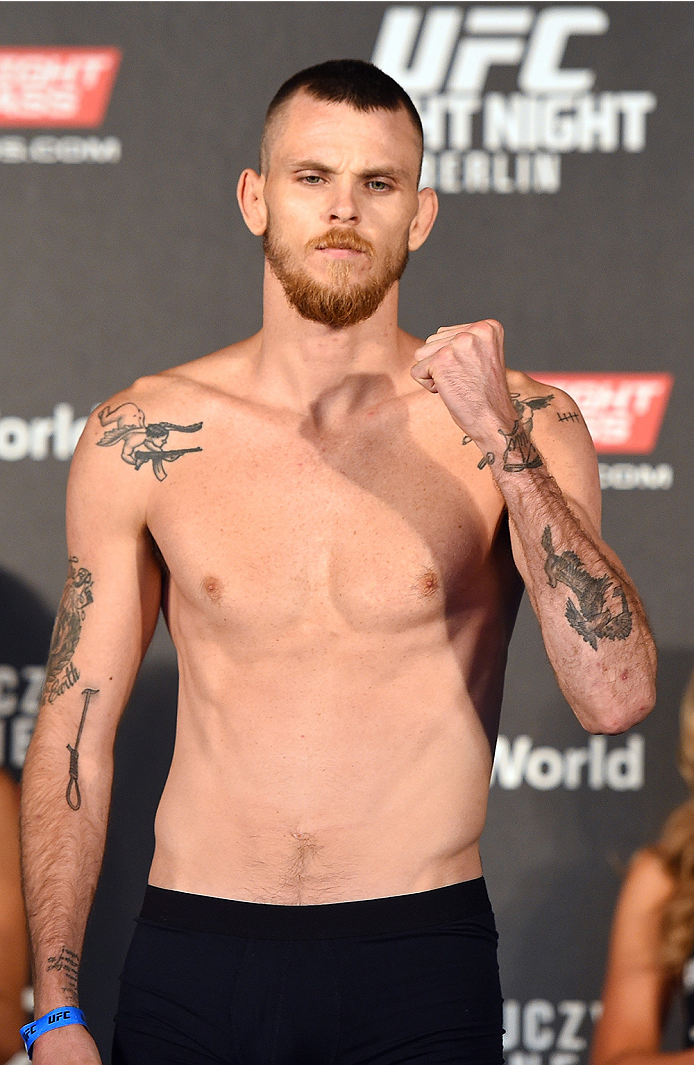 BERLIN, GERMANY - JUNE 19:   Niklas Backstrom of Sweden weighs in during the UFC Berlin weigh-in at the O2 World on June 19, 2015 in Berlin, Germany. (Photo by Josh Hedges/Zuffa LLC/Zuffa LLC via Getty Images)