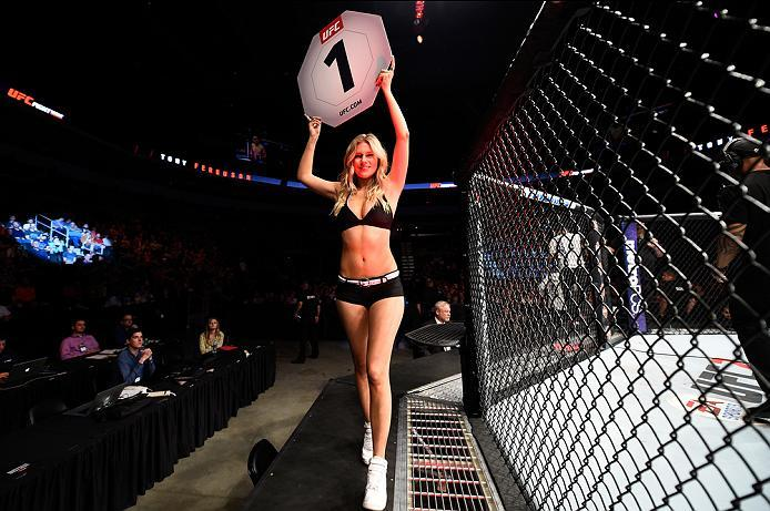 SIOUX FALLS, SD - JULY 13:   in their lightweight bout during the UFC Fight Night event on July 13, 2016 at Denny Sanford Premier Center in Sioux Falls, South Dakota. (Photo by Jeff Bottari/Zuffa LLC/Zuffa LLC via Getty Images)