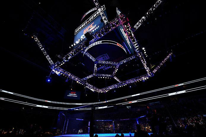 PITTSBURGH, PA - FEBRUARY 21:  A general view of the Octagon during the UFC Fight Night event at Consol Energy Center on February 21, 2016 in Pittsburgh, Pennsylvania. (Photo by Jeff Bottari/Zuffa LLC/Zuffa LLC via Getty Images)