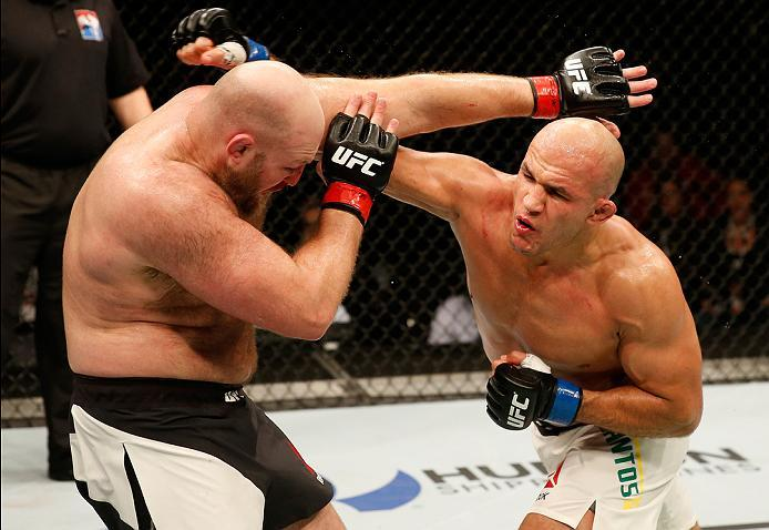 ZAGREB, CROATIA - APRIL 10:   in their heavyweight bout during the UFC Fight Night event at the Arena Zagreb on April 10, 2016 in Zagreb, Croatia. (Photo by Srdjan Stevanovic/Zuffa LLC/Zuffa LLC via Getty Images)