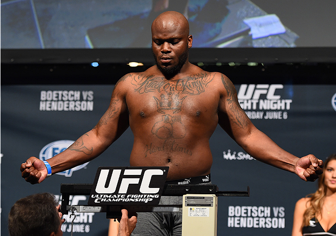 NEW ORLEANS, LA - JUNE 05:   Derrick Lewis weighs in during the UFC weigh-in at the Smoothie King Center on June 5, 2015 in New Orleans, Louisiana. (Photo by Josh Hedges/Zuffa LLC/Zuffa LLC via Getty Images)