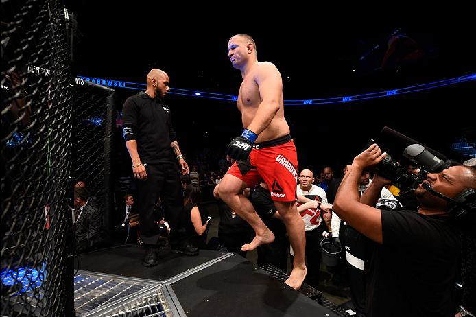 ATLANTA, GA - JULY 30:  Damian Grabowski enters the Octagon before facing Anthony Hamilton in their heavyweight bout during the UFC 201 event on July 30, 2016 at Philips Arena in Atlanta, Georgia. (Photo by Jeff Bottari/Zuffa LLC/Zuffa LLC via Getty Image