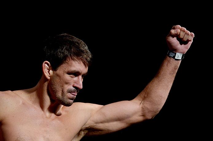 RIO DE JANEIRO, BRAZIL - MARCH 20: Demian Maia of Brazil weighs in during the UFC Fight Night Weigh-ins at Maracanazinho on March 20, 2015 in Rio de Janeiro, Brazil.  (Photo by Alexandre Loureiro/Zuffa LLC/Zuffa LLC via Getty Images)