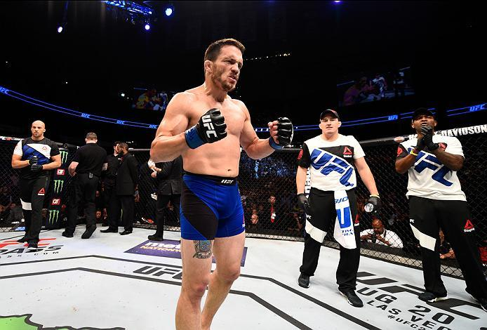 ATLANTA, GA - JULY 30:  Jake Ellenberger celebrates his victory over Matt Brown in their welterweight bout during the UFC 201 event on July 30, 2016 at Philips Arena in Atlanta, Georgia. (Photo by Jeff Bottari/Zuffa LLC/Zuffa LLC via Getty Images)