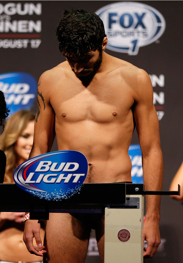 BOSTON, MA - AUGUST 16:  Ramsey Nijem weighs in during the UFC weigh-in inside TD Garden on August 16, 2013 in Boston, Massachusetts. (Photo by Josh Hedges/Zuffa LLC/Zuffa LLC via Getty Images)