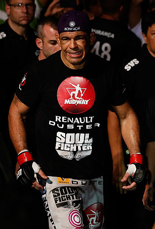 "FORTALEZA, BRAZIL - JUNE 08:  Antonio Rodrigo ""Minotauro"" Nogueira enters the arena before his heavyweight fight against Fabricio Werdum during the UFC on FUEL TV event at Paulo Sarasate Arena on June 8, 2013 in Fortaleza, Ceara, Brazil.  (Photo by Josh H"