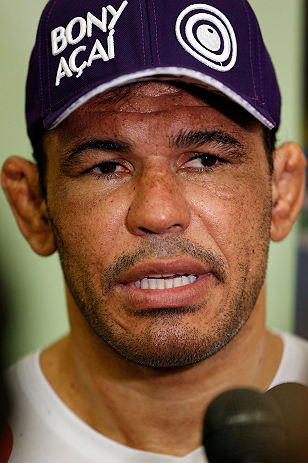 "FORTALEZA, BRAZIL - JUNE 06:  Antonio Rodrigo ""Minotauro"" Nogueira interacts with media at Centro de Eventos do Ceara on June 6, 2013 in Fortaleza, Ceara, Brazil.  (Photo by Josh Hedges/Zuffa LLC/Zuffa LLC via Getty Images)"