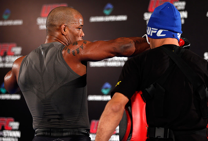 TOKYO, JAPAN - FEBRUARY 28: Hector Lombard holds an open training session for media at the Hilton Sjinjuku Hotel on February 28, 2013 in Tokyo, Japan. (Photo by Josh Hedges/Zuffa LLC/Zuffa LLC via Getty Images)