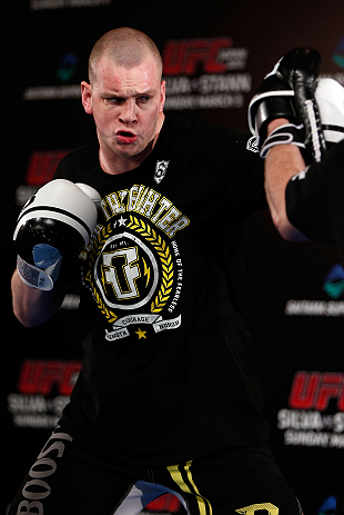 TOKYO, JAPAN - FEBRUARY 28: Stefan Struve holds an open training session for media at the Hilton Sjinjuku Hotel on February 28, 2013 in Tokyo, Japan. (Photo by Josh Hedges/Zuffa LLC/Zuffa LLC via Getty Images)