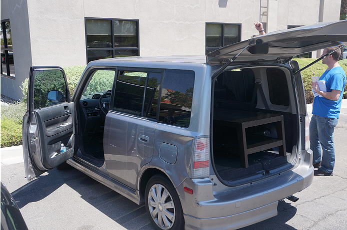 Forrest Griffin's Scion xB in all of it's glory.