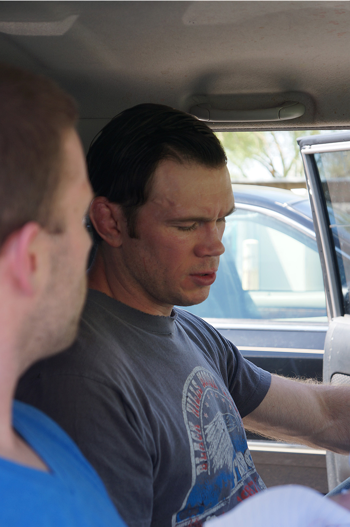 UFC legend Forrest Griffin intently discussing the UFC 174 main event.