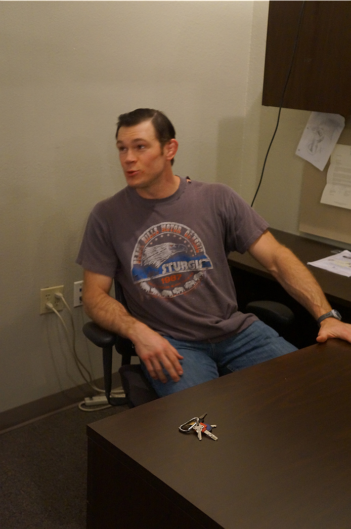 Legend Forrest Griffin explaining that he doesn't have a computer because he is waiting for his Commodore 64 to be delivered.