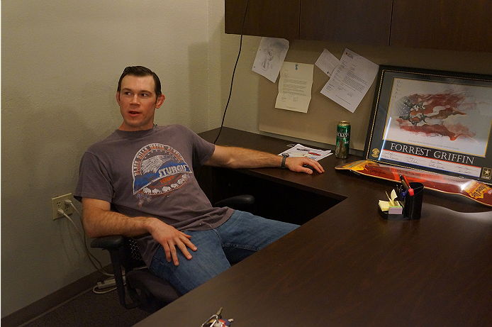 Forrest Griffin showing off his office.
