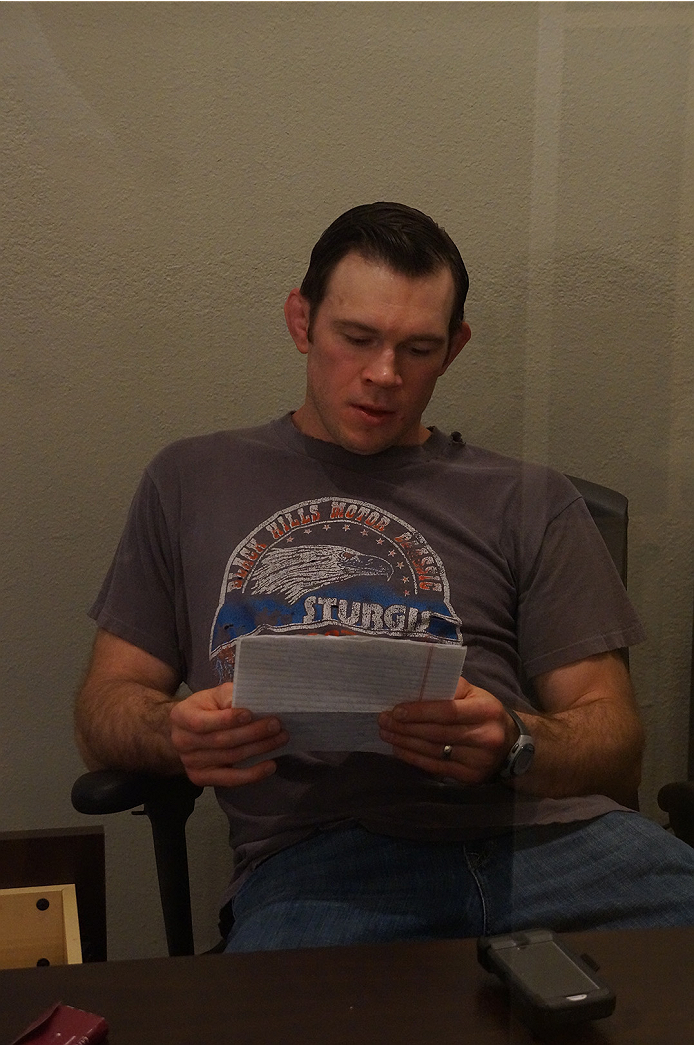 UFC hall of famer Forrest Griffin reviews some the notes he found in his drawer.