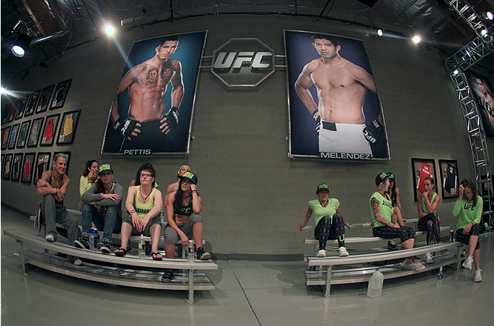 LAS VEGAS, NV - JULY 8:  Team Pettis fighter  before facing team Melendez fighter during filming of season twenty of The Ultimate Fighter on July 8, 2014 in Las Vegas, Nevada. (Photo by Brandon Magnus/Zuffa LLC/Zuffa LLC via Getty Images) *** Local Captio