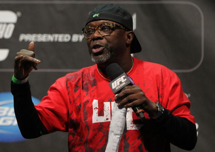 TORONTO, ON - DECEMBER 09:  UFC event coordinator Burt Watson fires up the crowd before the UFC 140 Official Weigh-in at the Air Canada Centre on December 9, 2011 in Toronto, Canada.  (Photo by Josh Hedges/Zuffa LLC/Zuffa LLC via Getty Images)